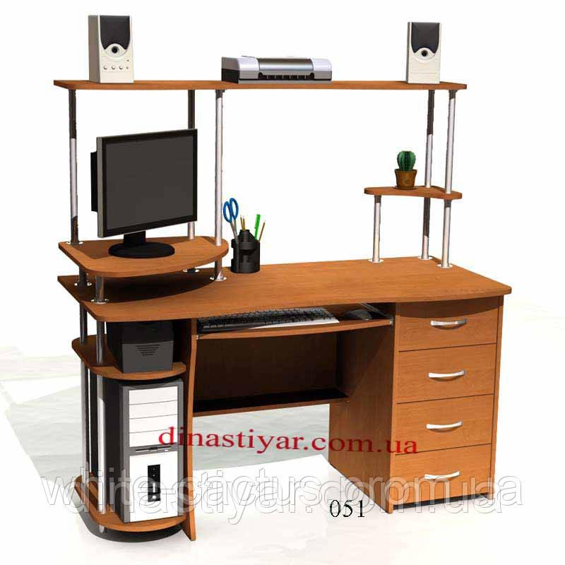 Стол компьютерный прямой с надстройкой, цена 1 790 грн., куп.