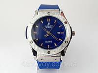 Часы мужские HUBLOT - Big Bang каучуковый синий ремешок, цвет корпуса часов серебро