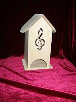Коробка для хранения чайных пакетиков Скрипичный ключ (10 х 10 х 23 см)