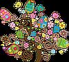"""Вафельная картинка """"Пасха"""" A4 (код 1262)"""