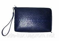 Универсальная сумка-клатч из кожи  питона