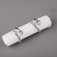 """Кольца для салфеток """"Сердечки"""" - оригинальное украшение свадебного стола."""