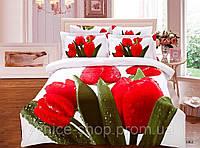 Яркое Постельное Белье 3d в Красные Тюльпаны