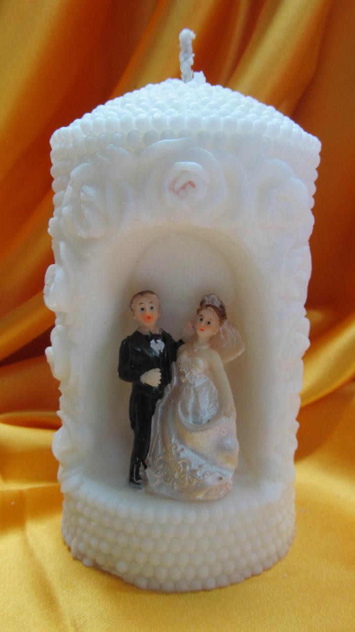 Свадебная свеча семейный очаг. Арка жемчужная малая белая
