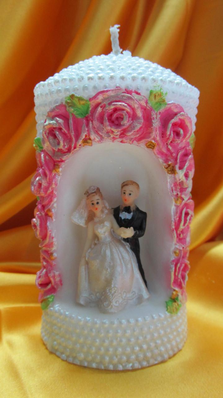 Свадебная свеча семейный очаг. Арка жемчужная малая цветная