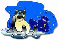 """Настенные часы фигурные Волк, """"Старый пес и волк"""", """"Жил был пес"""" 30*45 см, часы для дома"""