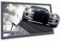 Настенные часы фигурные Автомобиль, Машина 30*45 см, часы для дома
