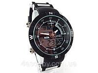 Спортивные часы Quamer в стиле Casio - черные, водозащита 3ATM