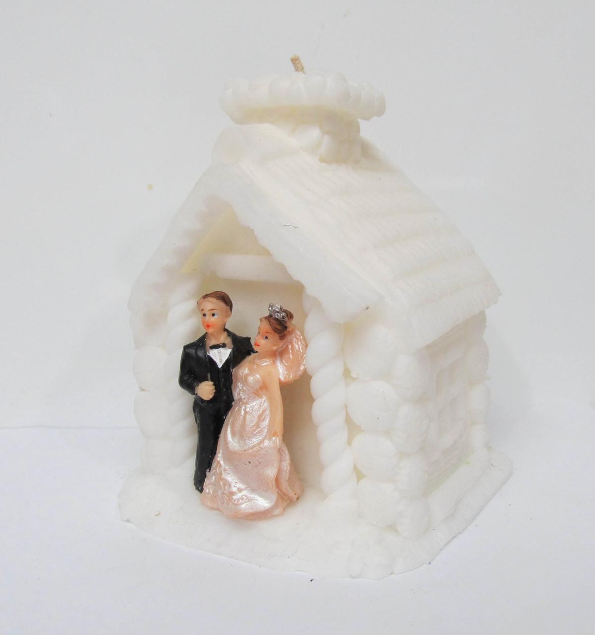 """Свадебная свеча семейный очаг. Свеча """"домик"""""""