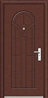 Дверь металлическая 50*860*2050, эконом, автолак (cherry), 1 замок, левая