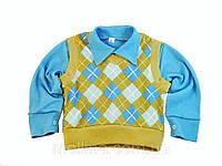 Комплект для мальчика. Рубашка и жилетка