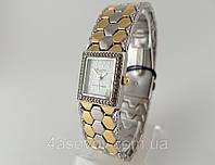 Часы женские - Планета - браслет металлическая змея, циферблат белый