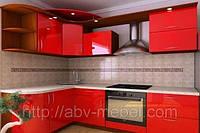Кухня под заказ фасад МДФ крашеный