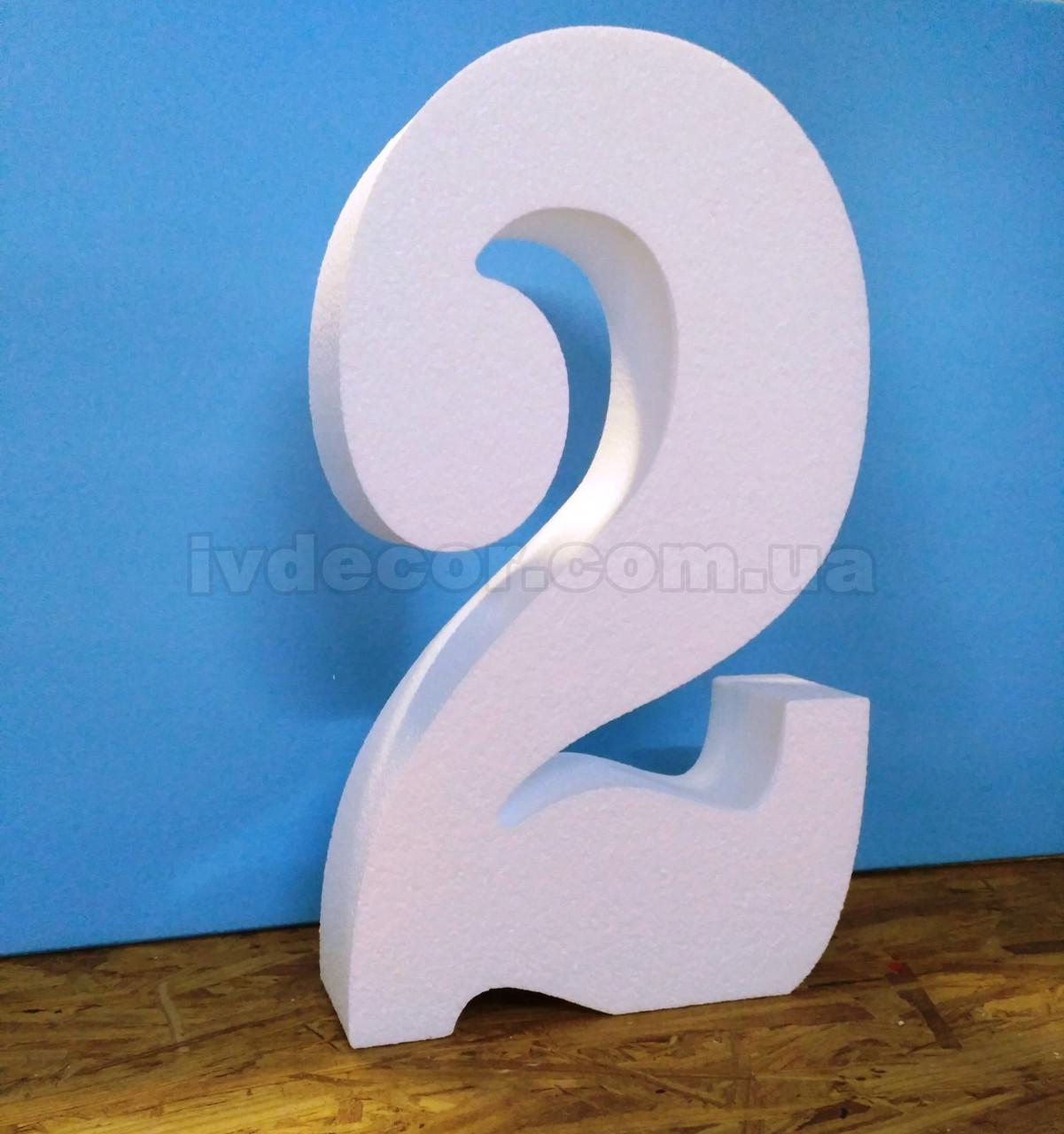 Как сделать большую цифру на день рождения из пенопласта