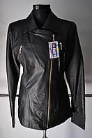 Куртка кожаная на молнии косуха длина 65 см 48р-50р ОГ 94 ОБ .98