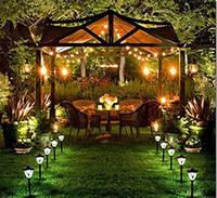 Садовые светильники на солнечных батарейках
