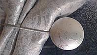 Магнит для штор (круг серебро)