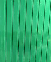 Зеленый. Профнастил 2,0х0,95м (0,4мм, волна - 14мм) оцинкованный пр-во Украина