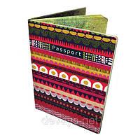Стильная обложка на паспорт Весёлый Узор