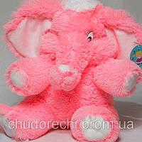 Слоник розовый 80см меховая игрушка