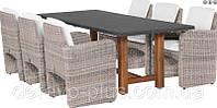 Комплект обеденный из искусственного ротанга без стола №1204-4333