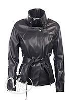 Короткая кожаная куртка женская (размер М)