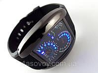 Часы мужские - Спидометр - черный корпус и ремешок