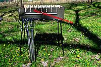 Мангал (тур чемодан) 8 шампуров с шампурами 8 шт. для пикника