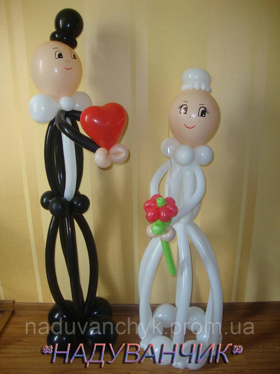 Подарок на свадьбу из воздушных шаров своими руками