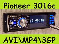 Автомагнитола Pioneer 3016C (LCD 3'★USB★SD★FM★AUX★ГАРАНТИЯ★ПУЛЬТ), пионер 3016с, піонер 3016с