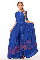 Платье макси с застежкой в пол