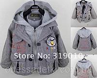Стильный пиджак Злые птицы на 2 года рост 80-90