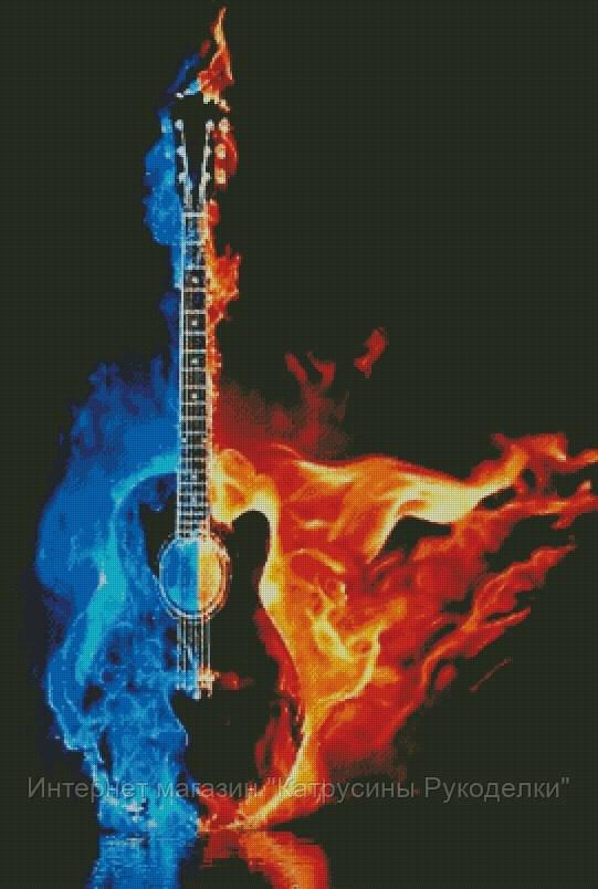 Огненная гитара схема для вышивки 800