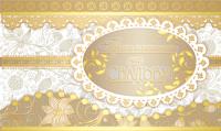 Приглашение на свадьбу с накладным элементом