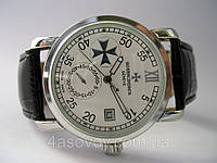 Мужские часы Vacheron Constantin механика с автозаводом, цвет корпуса серебро, белый циферблат