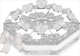 Свадебные бонбоньерки серебрянные (набор 8 шт.)