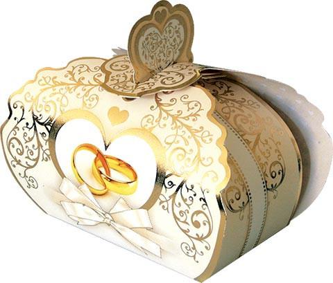 Свадебные бонбоньерки серебрянные