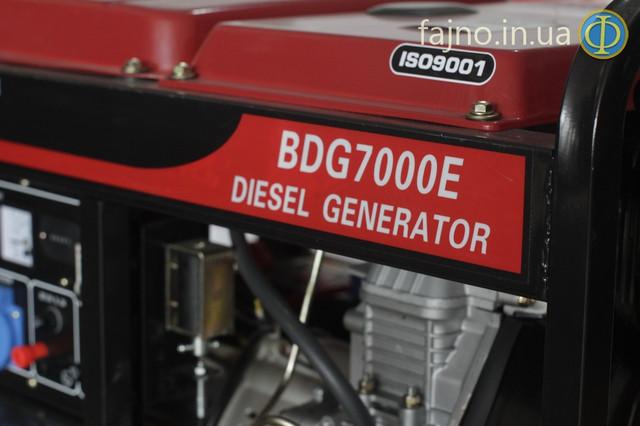 Дизельный генетатор Bulat BDG7000E фото 4