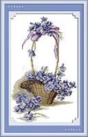 Набор для вышивания крестиком с печатью на ткани Аромат цветов  канва 11СТ