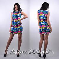 """Молодежное стильное платье """"Рыбки-неон"""" мод 126"""