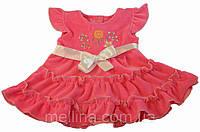 Платье для новорожденной девочки. На рост 62-68см. Нарядное детское платье из велюра