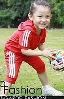 Летний спортивный костюм Адидас для девочки и мальчика на 1 и 2 года