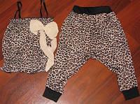 Летний леопардовый костюм для девочки 2-3 года