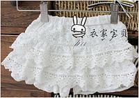 Красивые ажурные юбка-шорты для девочки на 6-9мес