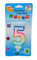 "Тортовая свеча цифра ""5"""