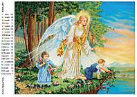 """""""Ангел хранитель"""" Схема для частичной вышивки бисером"""