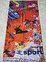 Летний бафф, buff, бесшовный шарф, бандана (#130)