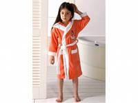 Детский халат для девочки Philippus коралловый с девочкой 3-4 года.