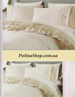 """Комплект постельного белья ALTINBASAK Сатин с гипюром """"Stella"""" Евро"""