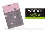Одеяло детское двухстороннее в горошек, 100%хлопок  Womar 100х150 см